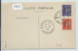 FRANCE LIBERATION  MONTREUIL BELLAY   2 VALEURS SUR CP  18/9/1944 - Liberation