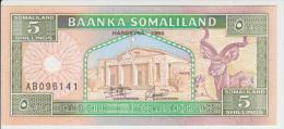 Somaliland 5 Shillings 1994 Pick 1 UNC - Somalia