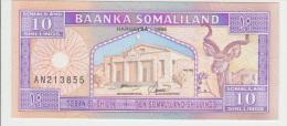 Somaliland 10 Shillings 1996 Pick 2 UNC - Somalia