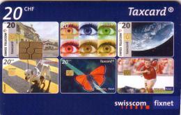 SUISSE  25 ANS DE LA TAXCARD 20F VALID 05.2010 UT
