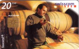 SUISSE DEGUSTATION TONNEAU VIN WEIN WINE  20F VALID 05.2002 UT