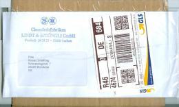 BRD Aachen Privatpost 2012 GLS - Label Chocoladenfabriken Lindt & Sprüngli Schokolade - Private & Local Mails
