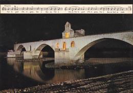 France Avognon Pont St Benezet La Nuit - Avignon