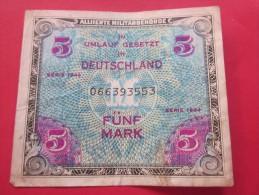 1944 ALLIIERTE MILITAREBEHORDE  IN UMLAUFGESTZT IN DEUTSCHLAND  5 MARK-ALLIED MILITAREBEHORDE In UMLAUFGESTZT In GERMANY - [ 5] 1945-1949 : Allies Occupation
