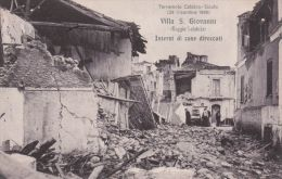 1925ca.-Villa San Giovanni, Case Diroccate Terremoto Calabro-siculo, Viaggita - Reggio Calabria