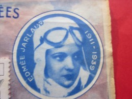 """ERREUR Sur Année Naissance Edmée Jarlaud Aviatrice 1911-1939>Billet Loterie Nationale Française 1964""""Les Ailes Brisées"""" - Billets De Loterie"""