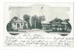 10943 -  Jubiläums-Ausstellung Wien 1898 Pavillon Fürst Schwarzenberg Pavillon Erzherzog Friedrich - Wien Mitte