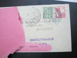 1914 ,  Retourbriev 1.8.1914 (begin WW II ) , Zensuur + Rebuten Bureau - Nederlands-Indië