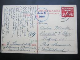 1946, Briefkaart  Zensuur      ,  Nach Duitsland - Postal Stationery