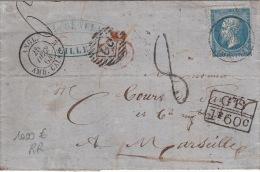 Lettre Ecrite de Lille, N�22 Obl cachet AMB.Calais + Taxe RARE