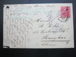 1908 ,   Postcard To Shanghai - 1902-1951 (Kings)