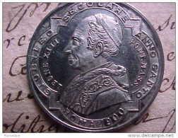 ARGENT MEDAILLE PAPE LEON XIII GIUBILEO SECOLARE ANNO SANTO ROMA 1900 OMAGGIO Silver  Prix Fixe - Religion & Esotérisme