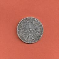 1 MARK Deutsches Reich - 1899 J - TRES RARE - [ 2] 1871-1918: Deutsches Kaiserreich