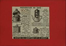 CAFE - Moulin à Café - Publicité Tirée D´une Revue De 1927 Et Collée Su Carton - Publicités