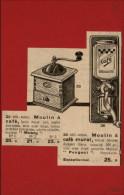 CAFE - Moulin à Café - Publicité Tirée D´une Revue De 1932 Et Collée Su Carton - Publicités