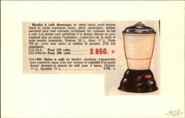 CAFE - Moulin à Café - Publicité Tirée D´une Revue De 1958 Et Collée Su Carton - Publicités