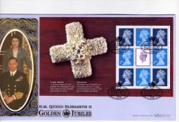 Elisabeth II-Grande Bretagne 2002-Bloc Prestige-Golden Jubilée-FDC -Limited Edition - FDC