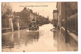 (Namur, Jambes), L'Union Civique Belge Secourant Les Sinistrés - Inondation - 2 Scans - Namur