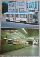 Lot 2x  Anvers TRAM  Station De Metro Tramway Edition Ministere Communication N° 38 ET 47 Top - Metro