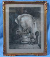 Beau Dessin Rehaussé D'époque XIXème / Signé Au Dos - Drawings