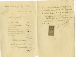 Etude De Me MOUROU Avoué à Ruffec Charente - Old Paper