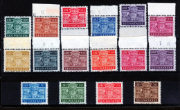 1945 San Marino Saint Marin SEGNATASSE STEMMA Serie Di 16v. MNH** - Segnatasse