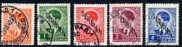 SERBIA OCCUPATION 1941 Definitive With Overprint Downwards, Five Used Values.  Michel 2-5, 7 - Occupation 1938-45