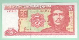 Cuba 3 pesos 2004 Che  Guevara
