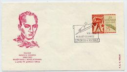 YUGOSLAVIA 1963 Commemorative Cover For 70th Birth Anniversary Of August Cesarac (writer And Revolutionary) - 1945-1992 Socialist Federal Republic Of Yugoslavia