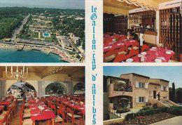 """Cp , COMMERCES , RESTAURANTS , Le Restaurant """"Le Ballon"""" , Cap D'Antibes , Multi-Vues - Restaurantes"""