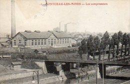 CPA MONTCEAU LES MINES - LES COMPRESSEURS - Montceau Les Mines
