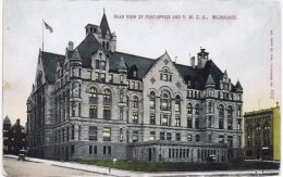 Cpa REAR VIEWN OF POST OFFICE  MILWAUKEE - Milwaukee