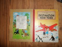 DESTINATION NEW YORK / LES AVENTURES DE JO ZETTE ET JOCKO  /  1951 - Hergé