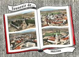 -gd Format - Herault -ref L531- Souvenir De Paulhan - Multivues   -carte Bon Etat   - - Paulhan