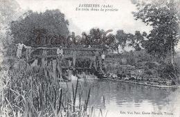 (10) Jasseines - Un Coin Dans La Prairie - Pêche Pêcheurs - Edit. Vve Petit. Cliché Marquis, Troyes - 2 SCANS - Andere Gemeenten