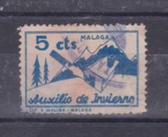 Malaga 1937 5c Auxilio De Invierno,usado     #706 - Emisiones Nacionalistas