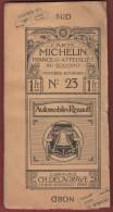 Carte Michelin Entoilée N° 23  POITIERS BOURGES - 1 / 200 000ème - Avant 1914 / 18. - Cartes Routières