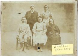 ARDENNES 08.HANNOGNE SAINT ST REMY PHOTO FAMILLE HYPPOLITE MONNIER HELENE SA FEMME, GRAND MERE, EMILIE, EMILE - Other Municipalities