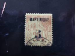 TP Colonies Françaises. Oblitéré. Martinique. Taxe N° 1. Valeur 65€. Dent Courte En Angle - Non Classés
