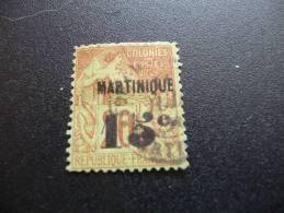 TP Colonies Françaises. Martinique. N° 16 Valeur 130€. Oblitéré. Second Choix - Non Classés