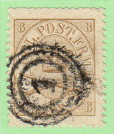 DEN SC #14 1868 Royal Emblems W/blunt Perfs @ T, CV $95.00 - 1864-04 (Christian IX)