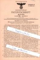Original Patent  - Auto Union A.-G. In Chemnitz , 1936 , Richtungsanzeiger Für Fahrzeuge , Winker !!! - KFZ