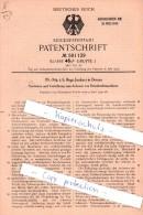 Original Patent  - Dr.- Ing. Hugo Junkers In Dessau , 1930 , Anlasser Für Brennkraftmaschinen !!! - KFZ