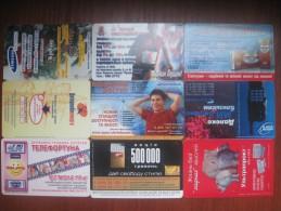 Ukraine. Advertising. Lot Of 9 Cards. UKRTELECOM. 2001-2007 - Oekraïne