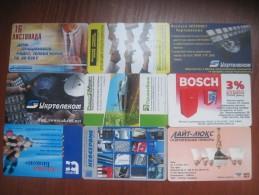 Ukraine. Advertising. Lot Of 9 Crads. UKRTELECOM. 2001-2007 - Oekraïne