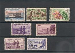 Saint Pierre Et Miquelon Années 1938/1969 Lot De Timbres Oblitérés - Collections, Lots & Séries