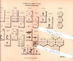 Original Patent  - G. Freytag & Berndt In Wien , 1886 , Dominosteine Mit Farbigen Feldern , Domino !!! - Antikspielzeug