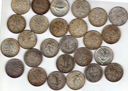 LOT de 26 pi�ces de 2 F  1870/1919 en argent