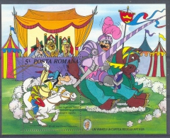 NapA071 WALT DISNEY MARK TWAIN PAARDENRACE RIDDERS KNIGHTS HORSERACE GOOFY LEEUW LION ROMANA 1985 PF/MNH - Disney