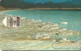 CARTE-PUCE-OPT-DJIBOUTI-1 00U--SC7-SCHLUM-LAC  SALE-V°NEW LOGO DJIBOUTI- N°Série Sur Rectangle Bleu-TBE-RARE - Dschibuti